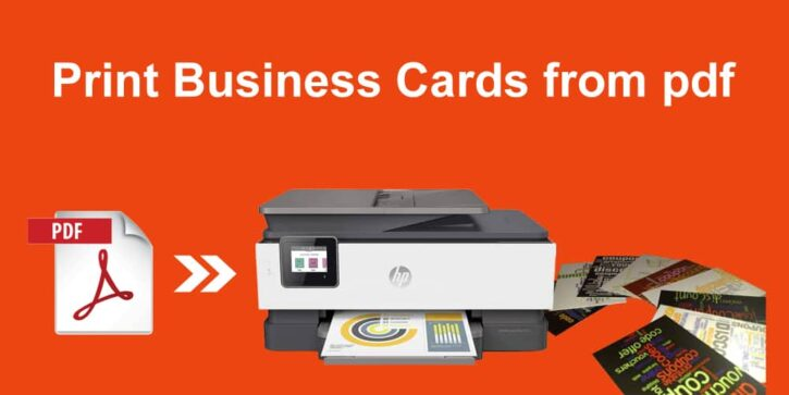 How to print business cards from pdf