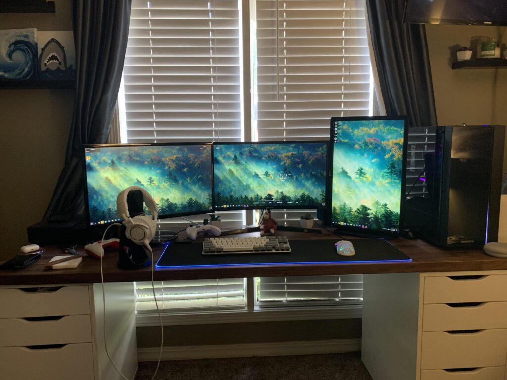 Programming on Vertical Monitor