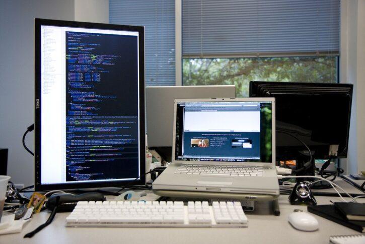 portrait monitor for coding