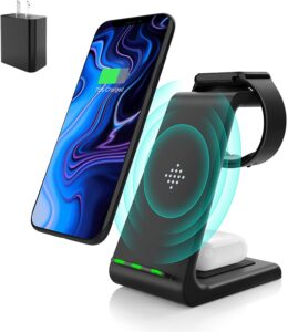 Wireless Charging Stand, Muleug 3 in 1